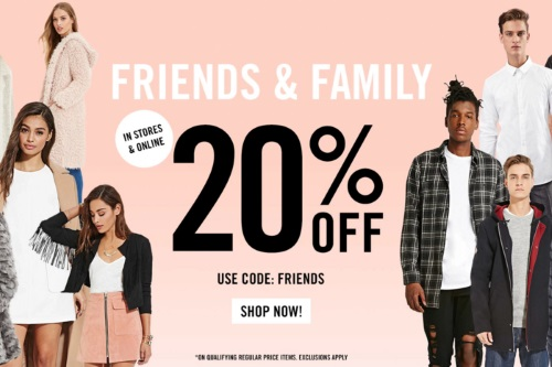 Forever 21 20% Off Friends & Family Event Promo Code