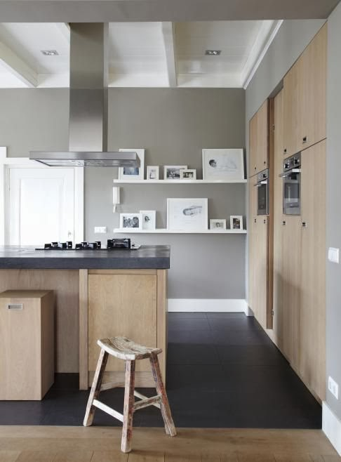 Soft Warm Grey Kitchen Walls 486 x 658