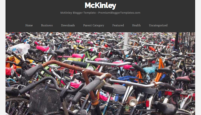 Kinley : One Column Free Blogger Template