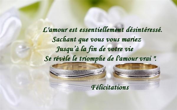 flicitations pour votre mariage - Texte De Felicitation De Mariage