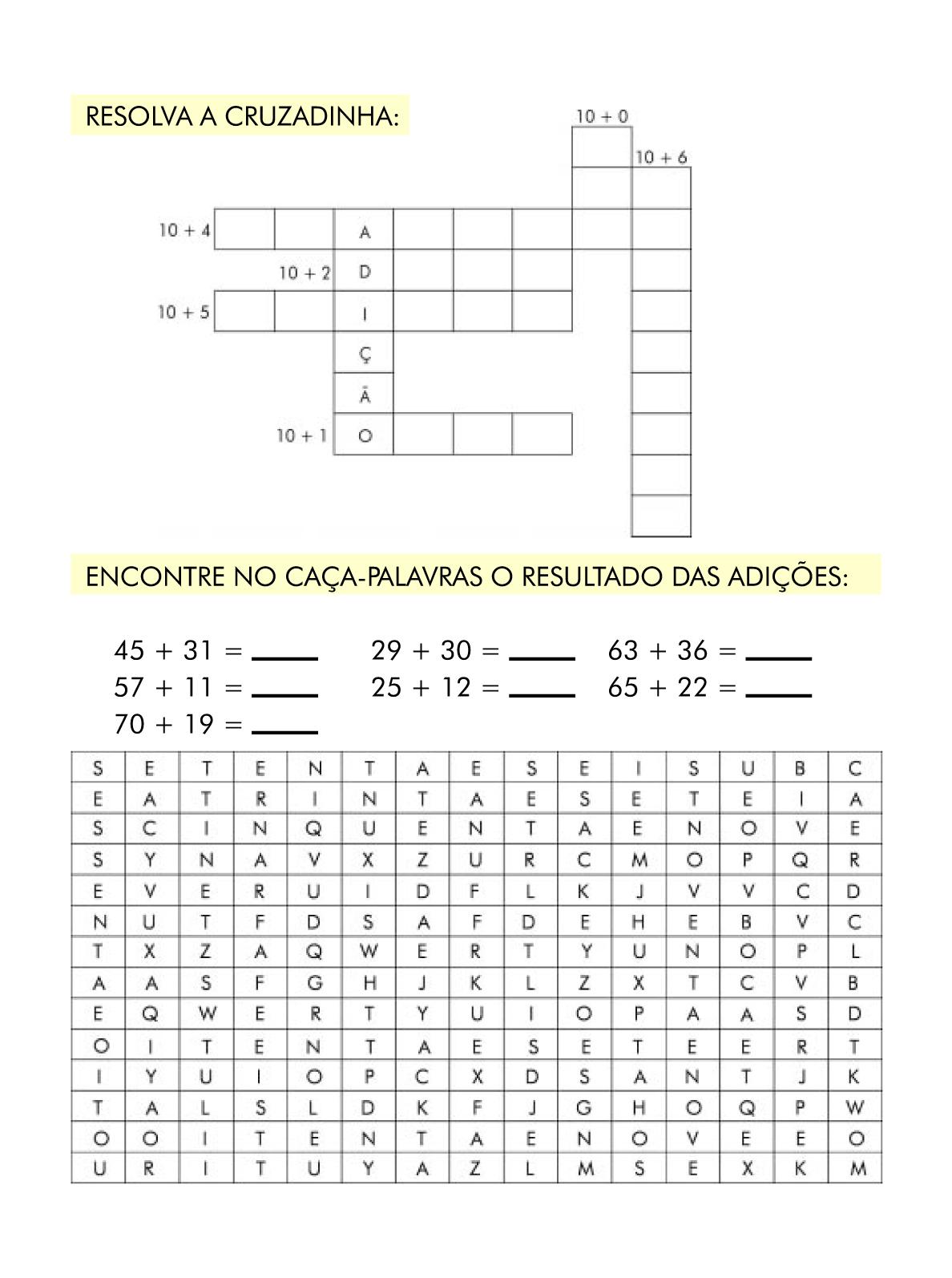 Top Ensinando com Carinho: Atividade de Matemática 2º ano WW62