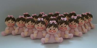 Lembrancinhas para nascimento de meninas em feltro