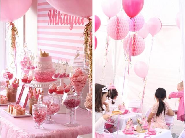 Fiesta de princesas rosa