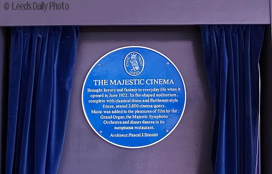 Majestic Cinema Blue Plaque Leeds