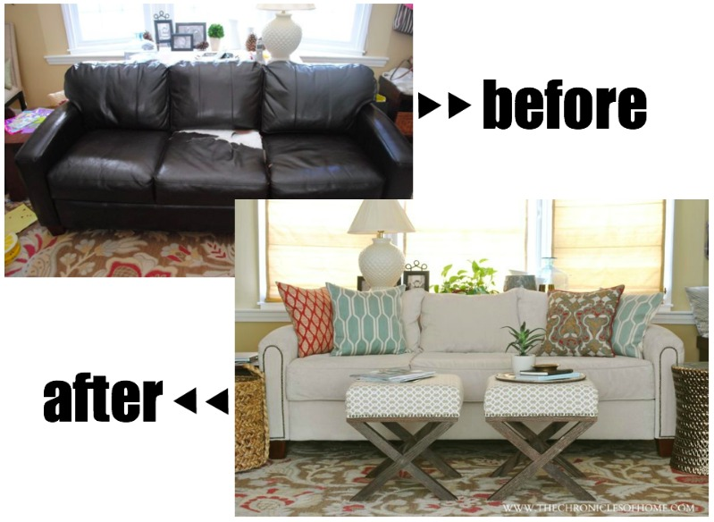 The Reveal Our Newly Upholstered Sofa