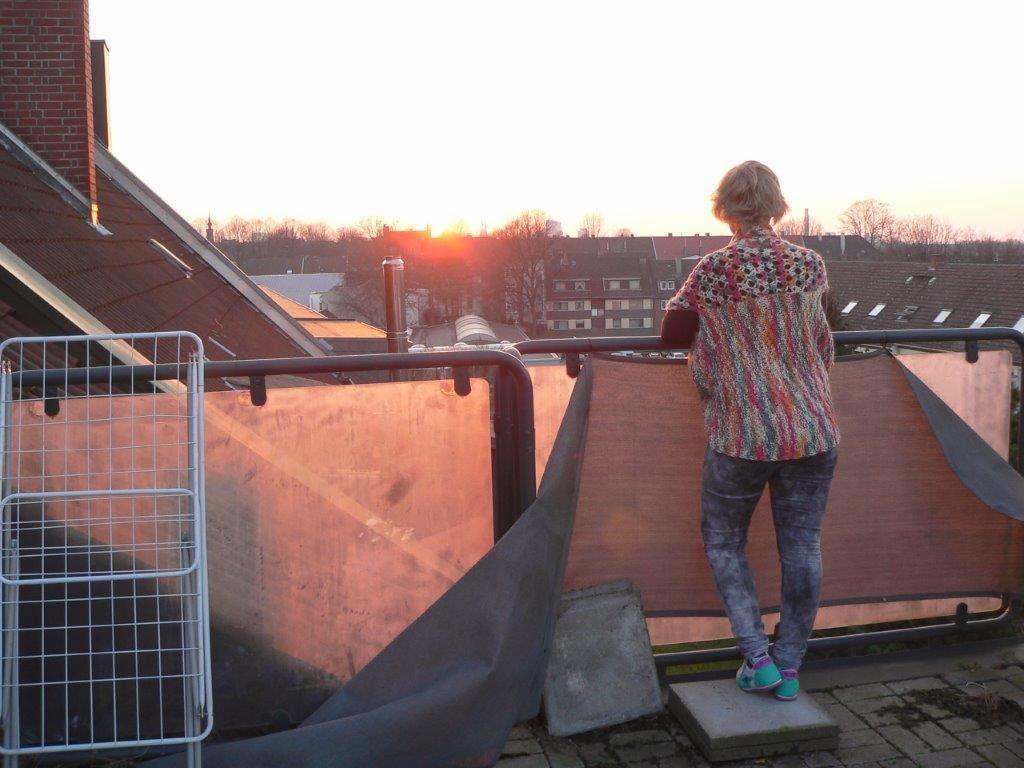Dachterasse Dortmund Sonnenuntergang