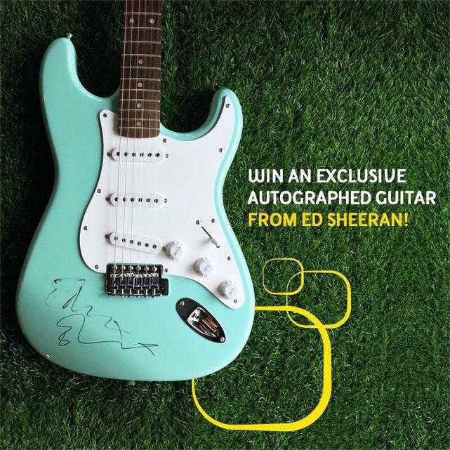 Ed Sheeran Autographed Guitar