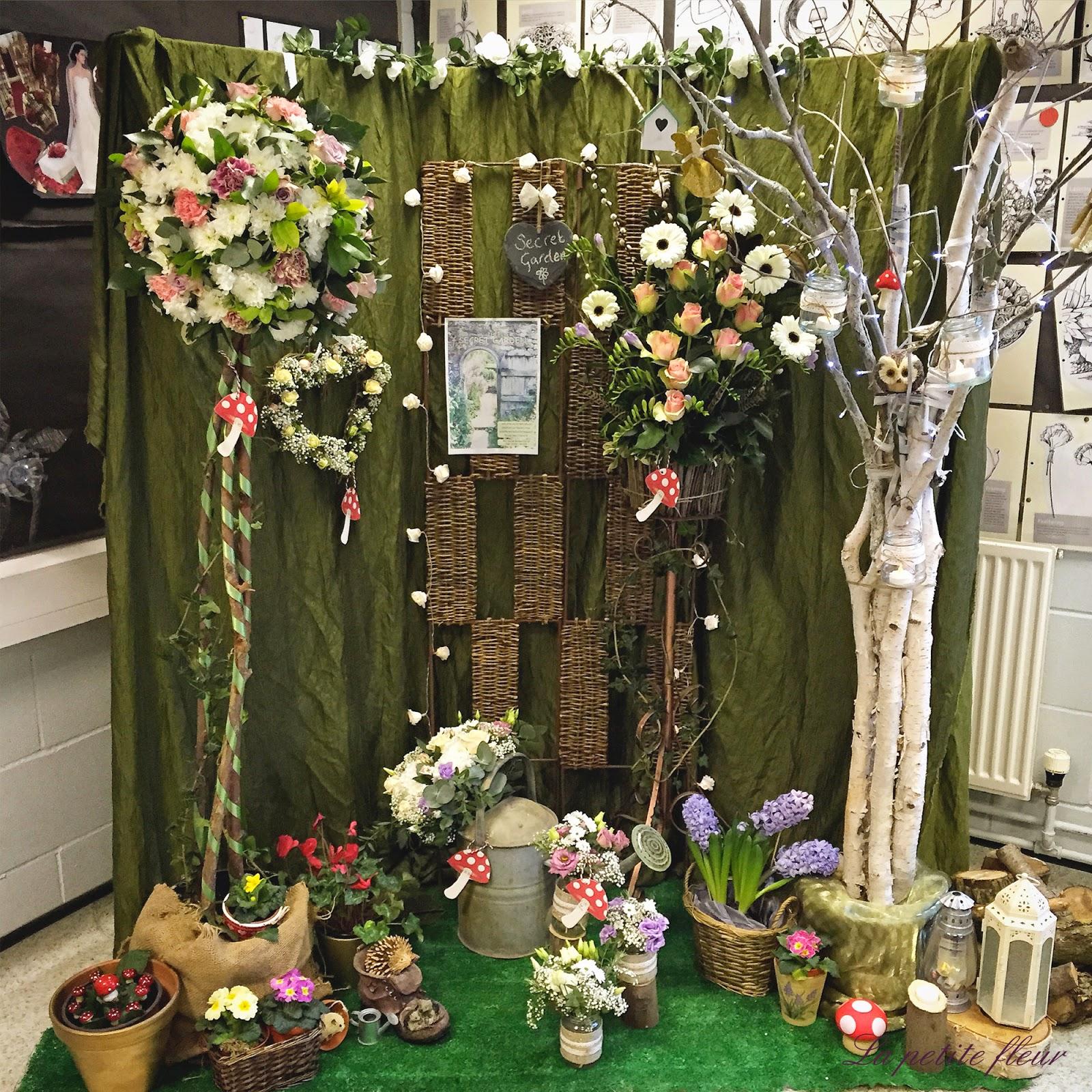Hannah Louise flowers: The Secret Garden window display