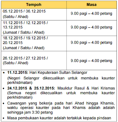 Jadual bayaran BR1M 2016