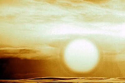 Fire ball created by the blast of the Tsar Bomba