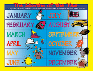 Nama bulan bahasa Inggris / 12 months of the year