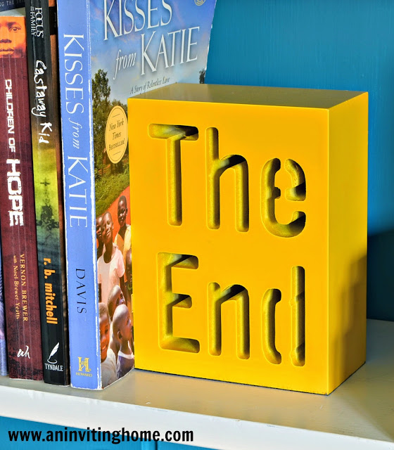 """""""The End"""" book end from CB2"""