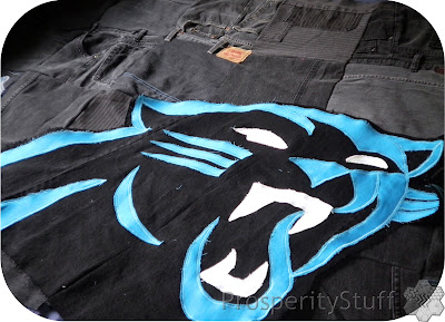 ProsperityStuff Panthers Jeans Quilt layout