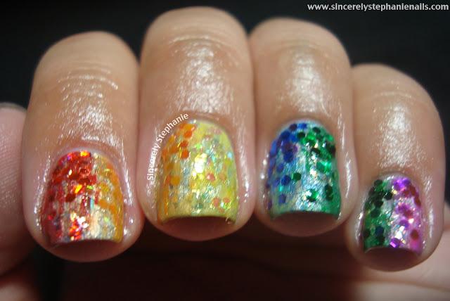 31 day nail art challenge rainbow