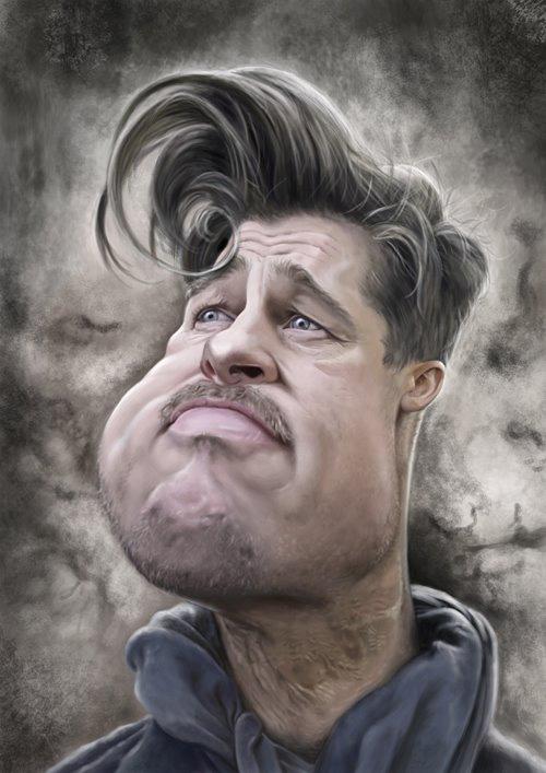 "Caricatura de ""Brad Pitt"" por Patrick Strogulski"