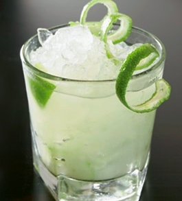 Drink with lime rind