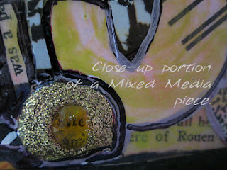macro portion view of mixed media