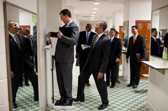 Obama fooling around