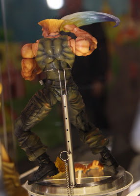 Square Enix Play Arts 2013 Toy Fair Display - Street Fighter Guile figure