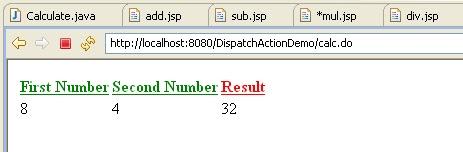 struts 1 web application example