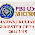 Download Jadwal Makul Semester Genap PBI UM Metro 2014-2015