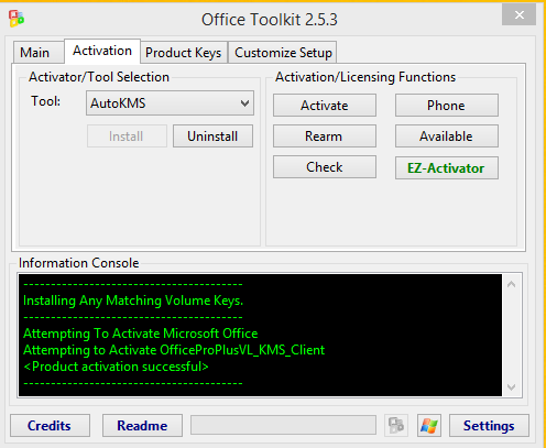 Download Microsoft Toolkit to activate Windows and MS Office
