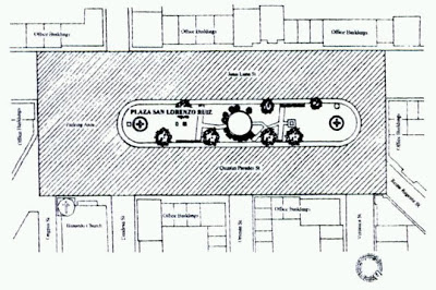 Original Plan of Plaza San Lorenzo Ruiz, Binondo Manila