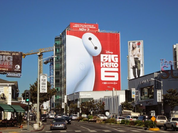 Giant Big Hero 6 film billboard