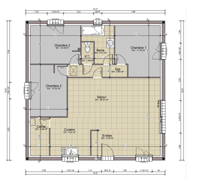 PZ C: plan maison
