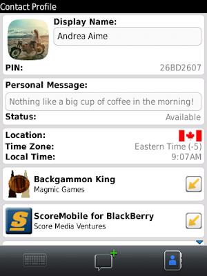 """Las aplicaciones se convierten en experiencias sociales una vez que los usuarios pueden interactuar con sus contactos de BBM Waterloo, ON – BBM™ (BlackBerry® Messenger) es una de las mayores redes sociales móviles del mundo que está haciendo posible una experiencia social nueva y revolucionaria. Research In Motion (RIM) (NASDAQ: RIMM; TSX: RIM) ha anunciado hoy la disponibilidad de la versión 6 de BBM (BBM 6), que ofrece soporte para las aplicaciones """"BBM conectadas"""", permitiendo a los usuarios interactuar fácilmente unos con otros desde la aplicación conectada a BBM. Las aplicaciones conectadas a BBM integran la popular funcionalidad del servicio"""
