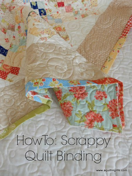 How To: Scrappy Quilt Binding Tutorial | A Quilting Life - a quilt ... : ending quilt binding - Adamdwight.com