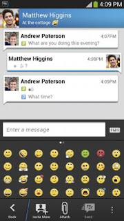 screenshot bbm android gingerbread