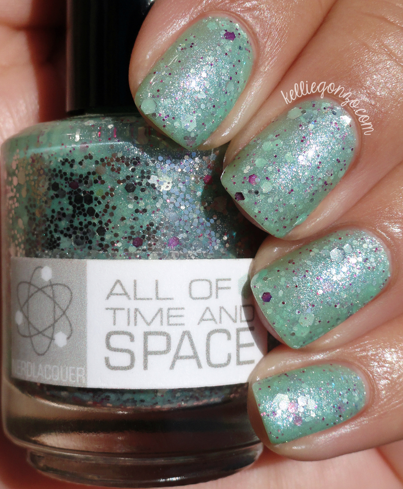 KellieGonzo: Nerd Lacquer All of Time and Space Swatch & Review