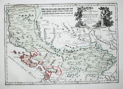 Mappa dell'Albania nel 1791 (archivio ministero Austria)