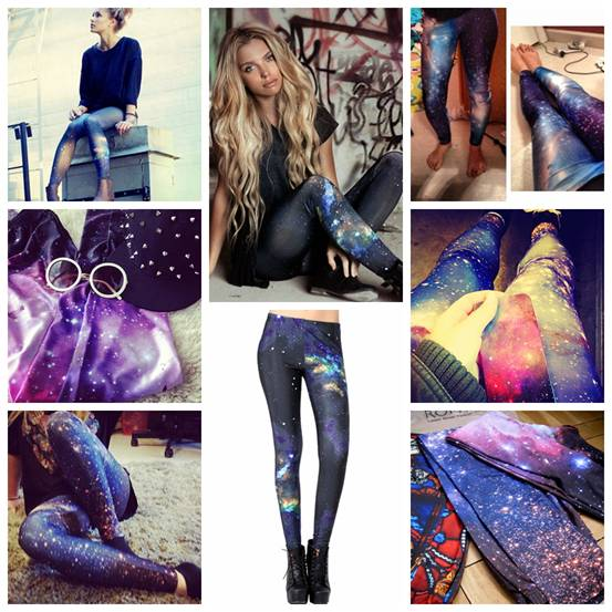 romwe galaxy leggings, universe print leggings, street style