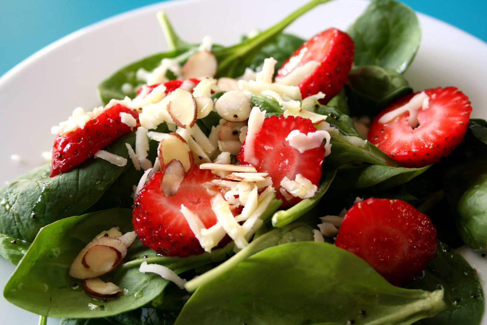 For the Love of Food: Strawberry Spinach Salad with Mustard Poppy Seed ...