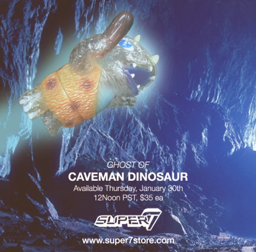 Ghost of Caveman Dinosaur Vinyl Figure by Josh Herbolsheimer