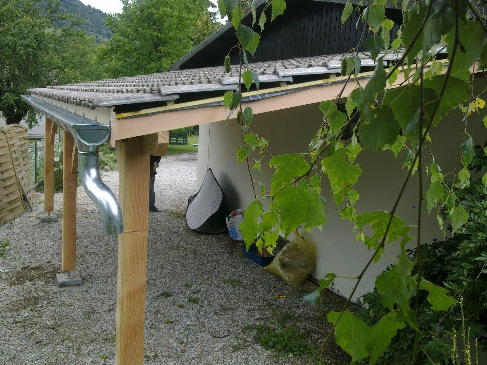 Algil multi abris carport double adosser en douglas - Montage carport bois ...