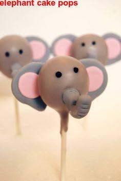 elephant cake pops
