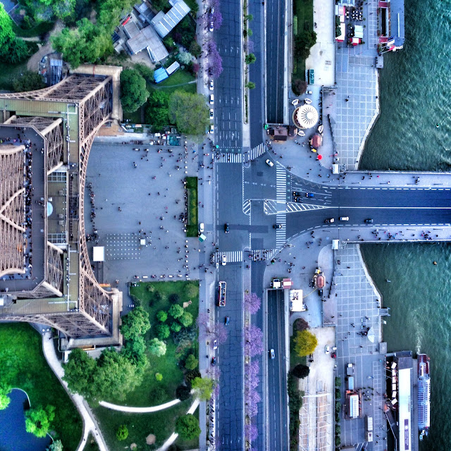 Looking down from the top of the Eiffel Tower in Paris France. Taken on my LifeProof iPhone 5 Magenta