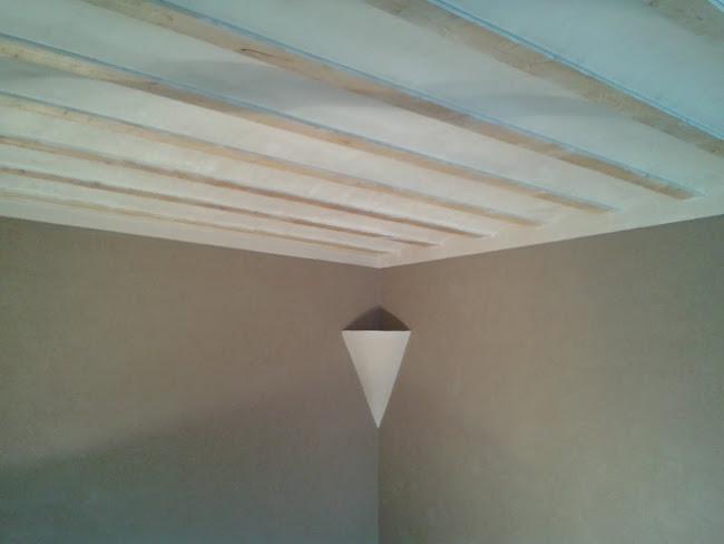 Plafond voutins plâtrés