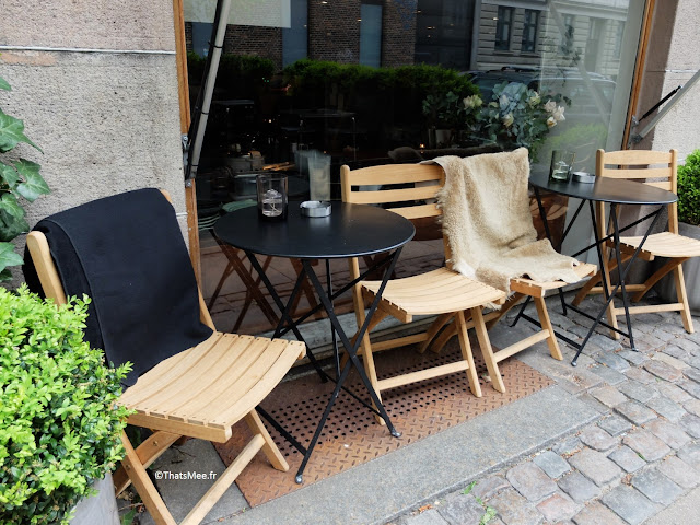 plaids terrasse café copenhague coffee shop