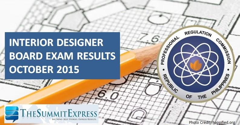 List Of Passers October 2015 Interior Design Board Exam Results