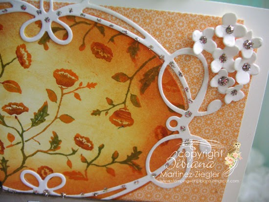 fall happy birthday card detail