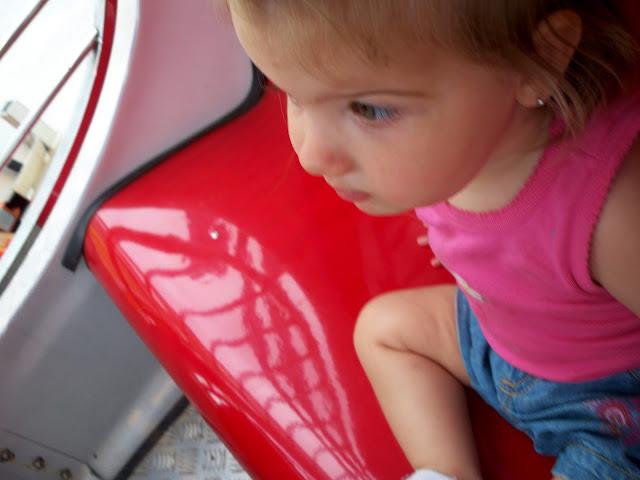 Addie's first fair ride.