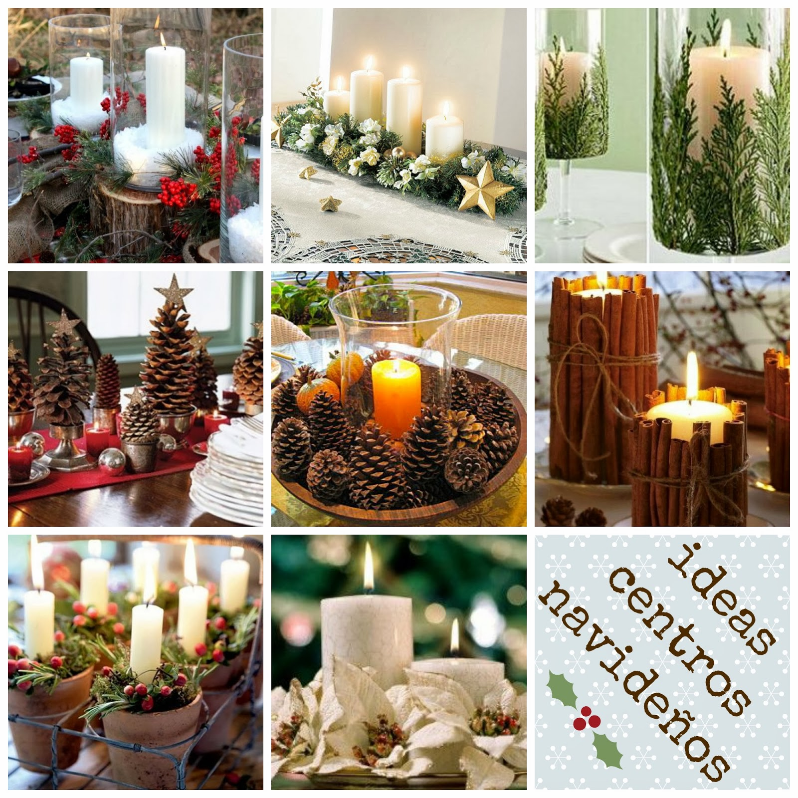 Mesas on pinterest - Ideas para arreglos navidenos ...