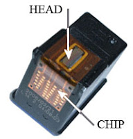 Chip cartridge canon
