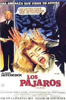 Cartel de la película Los pájaros de Alfred Hitchcock