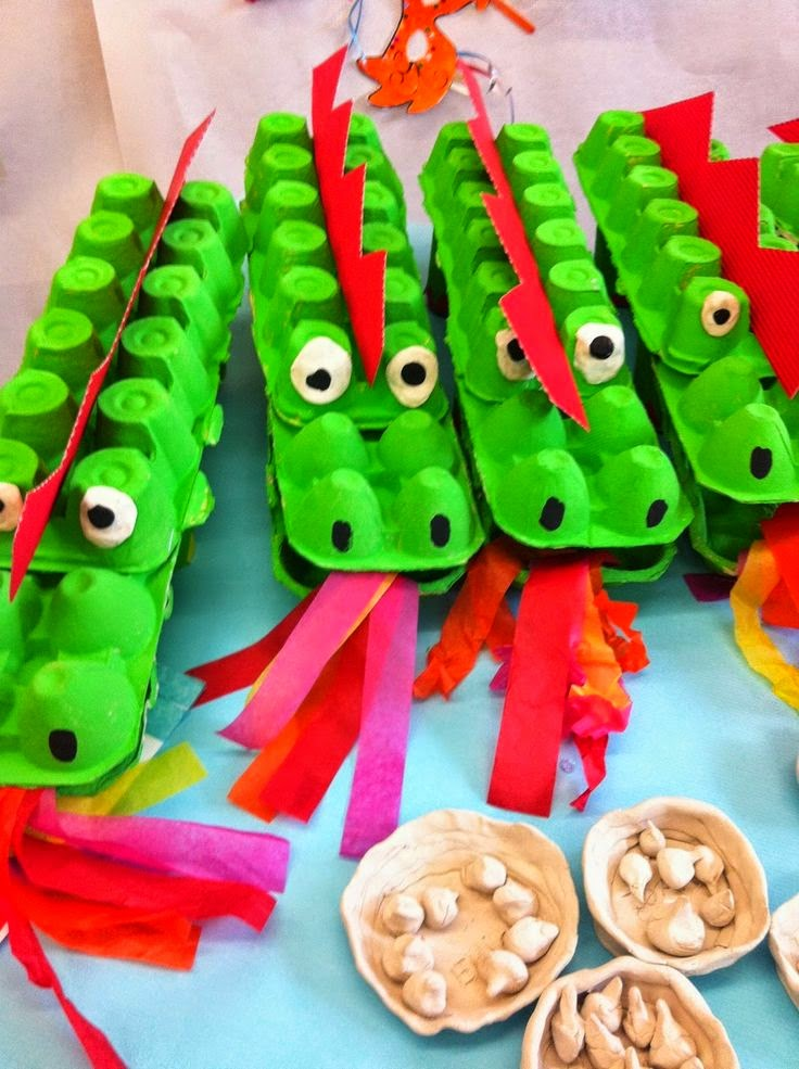 Chinese New Year Dragon Crafts for Kids Egg Cartons