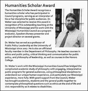 Thumbnail photo of a scan of the MHC Bio that was published in the program for the ceremony.